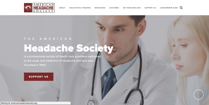 Image of American Headache Society website