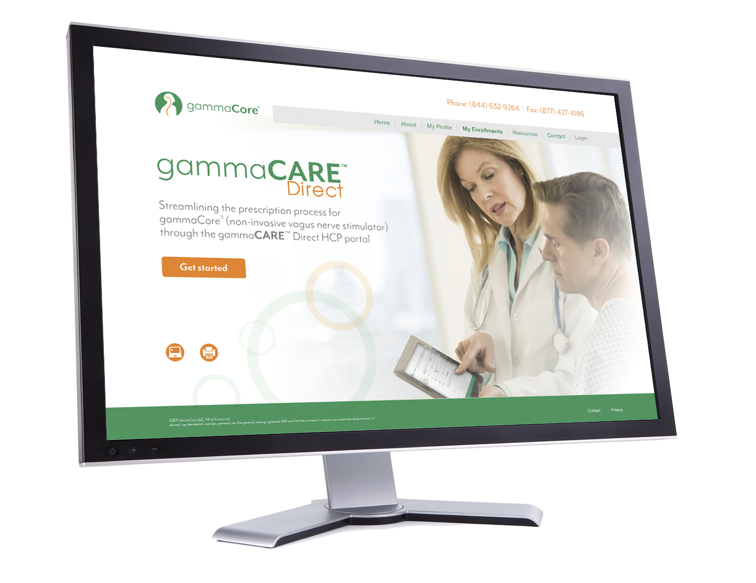 Image of gammaCARE Direct portal